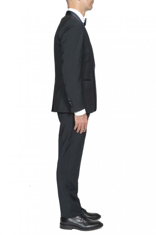 SBU 03246_2021SS Blue navy wool tuxedo jacket and trouser 01