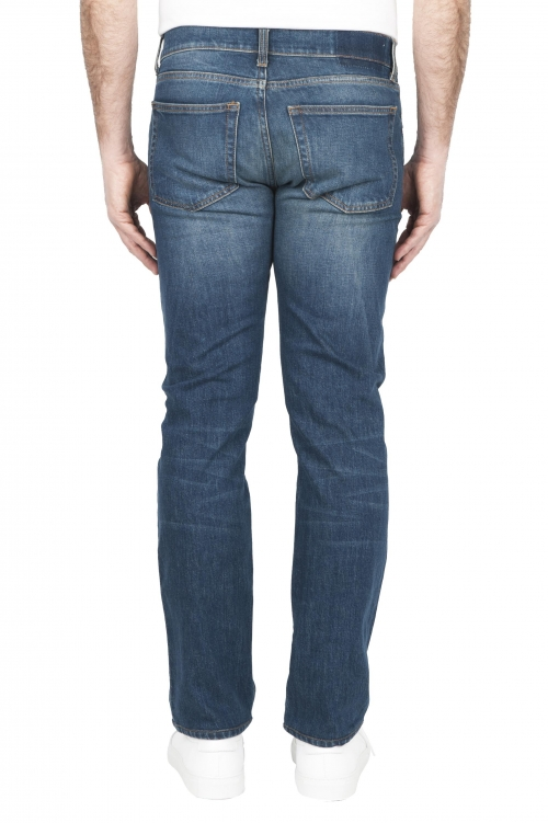 SBU 03209_2021SS Jeans elasticizzato in puro indaco naturale stone washed 01