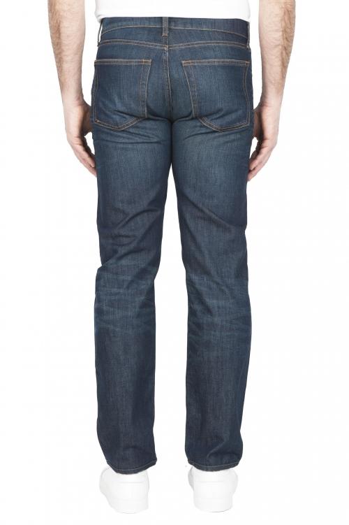 SBU 03214_2021SS Denim bleu jeans délavé en coton biologique 01