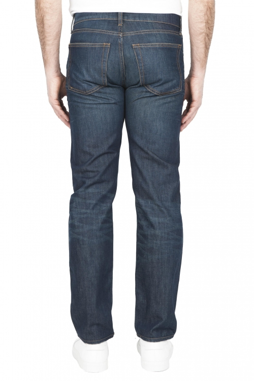 SBU 03214_2021SS Stone washed organic cotton denim blue jean 01