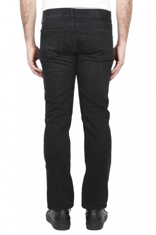 SBU 03210_2021SS Jeans en coton stretch noir délavé à l'encre naturelle 01