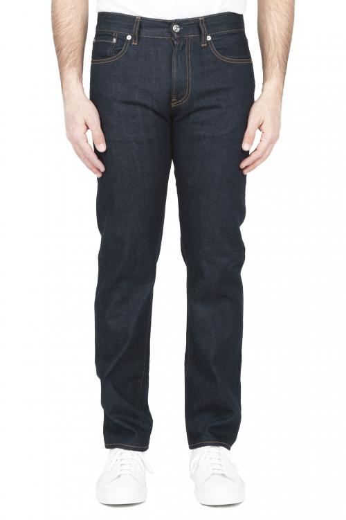 SBU 03216_2021SS Pantalones vaqueros azules de Denim japonés lavados teñidos añil natural 01
