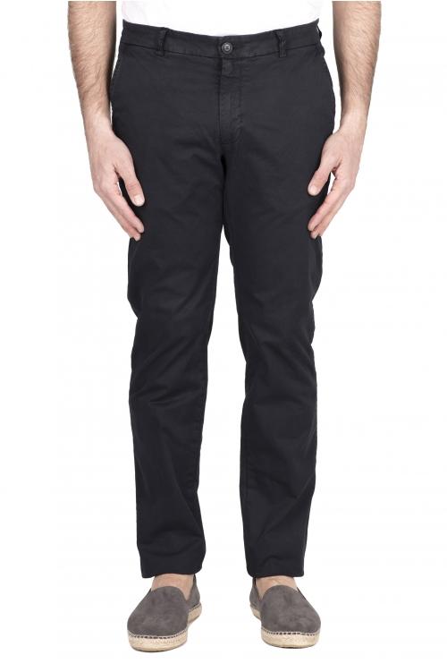 SBU 03249_2021SS Pantalon chino classique en coton stretch bleu 01