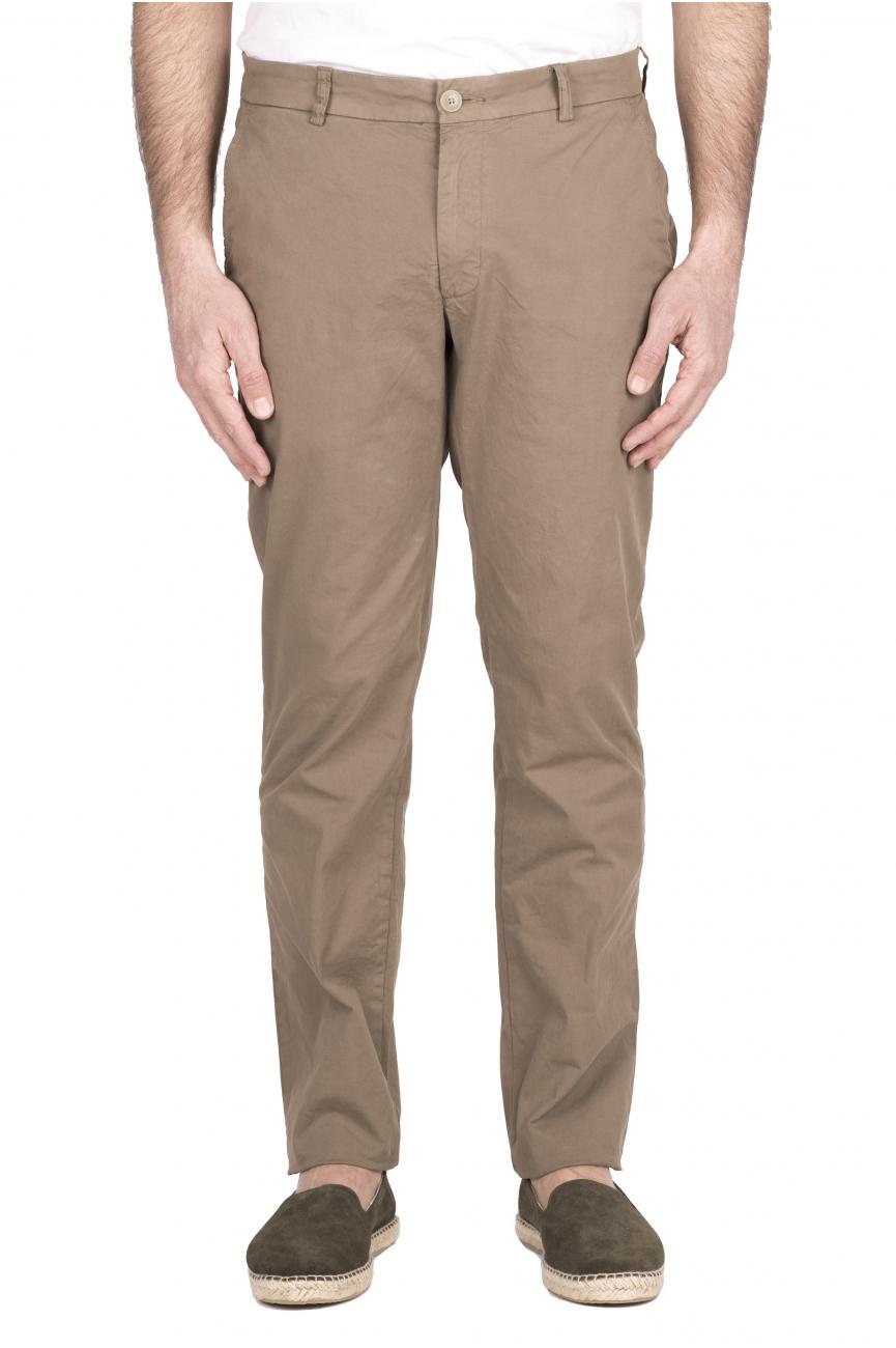 SBU 03250_2021SS Classic chino pants in beige stretch cotton 01