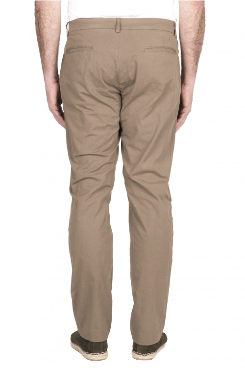 SBU 03250_2021SS Pantalón chino clásico en algodón elástico beige 01