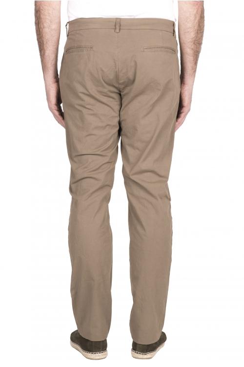 SBU 03250_2021SS Pantalon chino classique en coton stretch beige 01