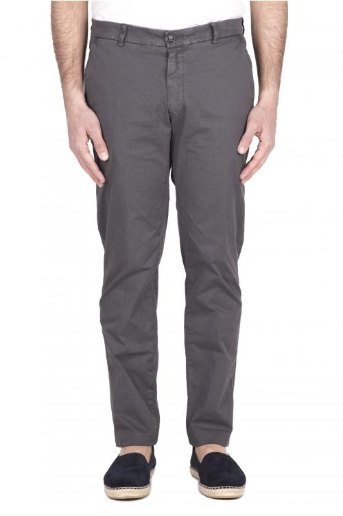 SBU 03251_2021SS Pantalón chino clásico en algodón elástico gris 01