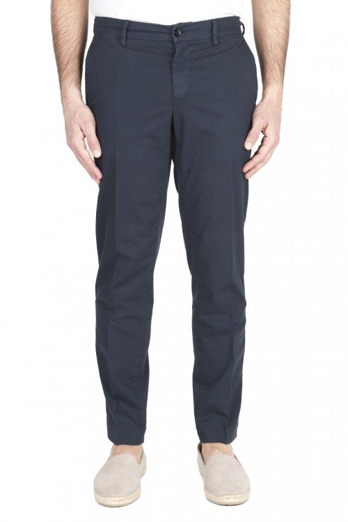 SBU 03252_2021SS Pantalon chino classique en coton stretch marine bleu 01