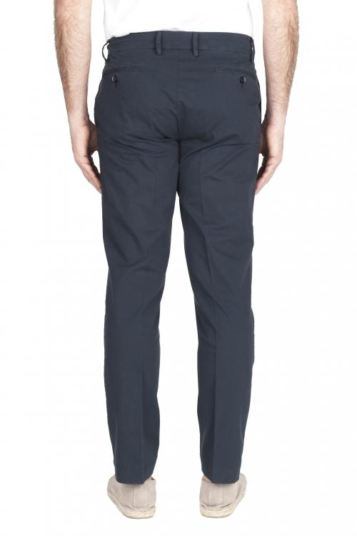 SBU 03252_2021SS Pantalón chino clásico en algodón elástico azul marino 01