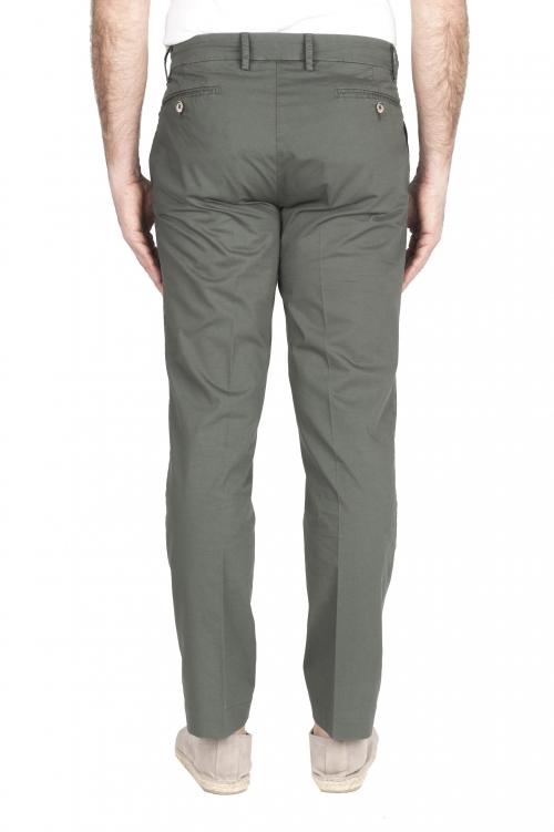 SBU 03253_2021SS Pantaloni chino classici in cotone elasticizzato verde 01