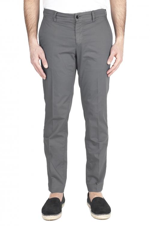 SBU 03254_2021SS Pantalón chino clásico en algodón elástico gris 01
