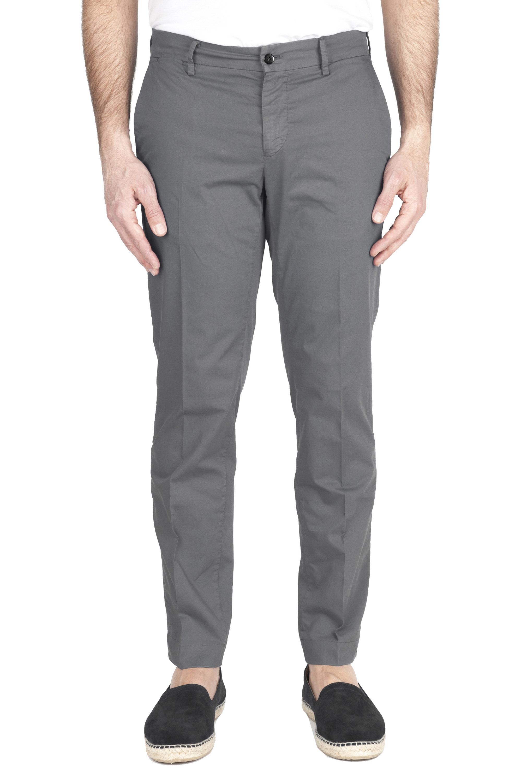 SBU 03254_2021SS Classic chino pants in grey stretch cotton 01
