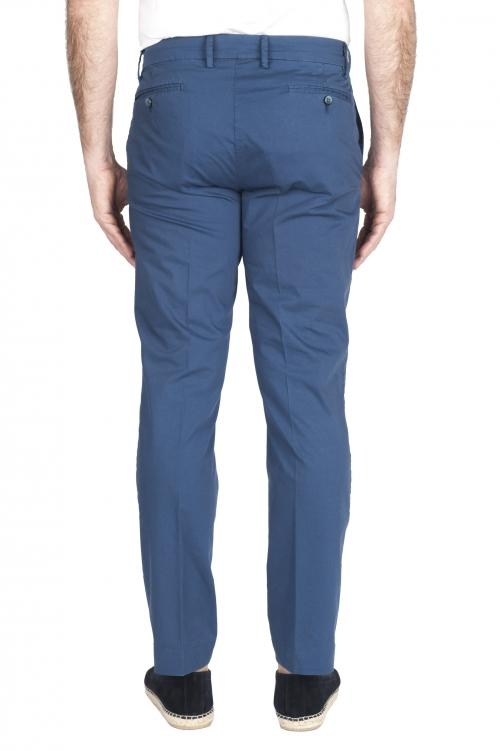 SBU 03255_2021SS Pantaloni chino classici in cotone elasticizzato blu 01