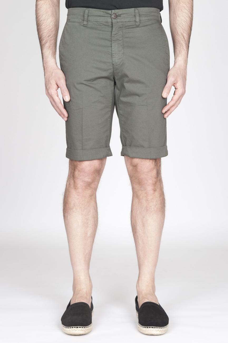 SBU - Strategic Business Unit - Bermuda Shorts In Cotone Elasticizzato Verde Militare