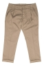SBU 03260_2021SS Classic beige cotton pants with pinces and cuffs 06