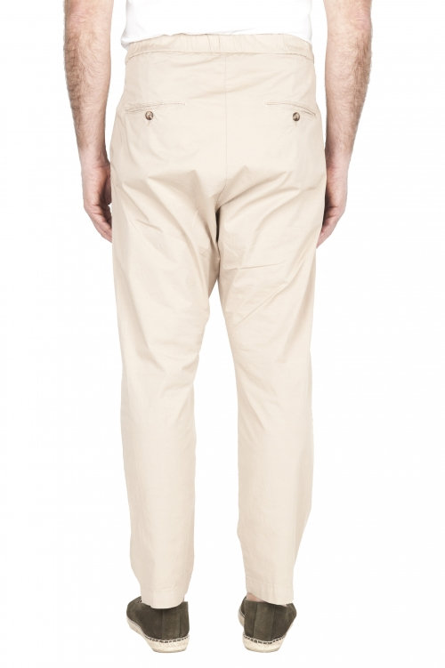 SBU 03262_2021SS Pantalon jolly ultra-léger en coton stretch beige 01