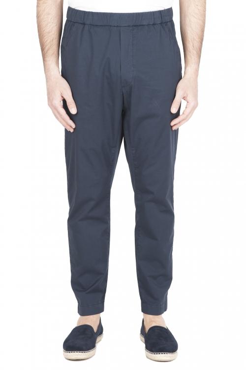 SBU 03264_2021SS Pantalón jolly ultraligero en algodón elástico azul 01
