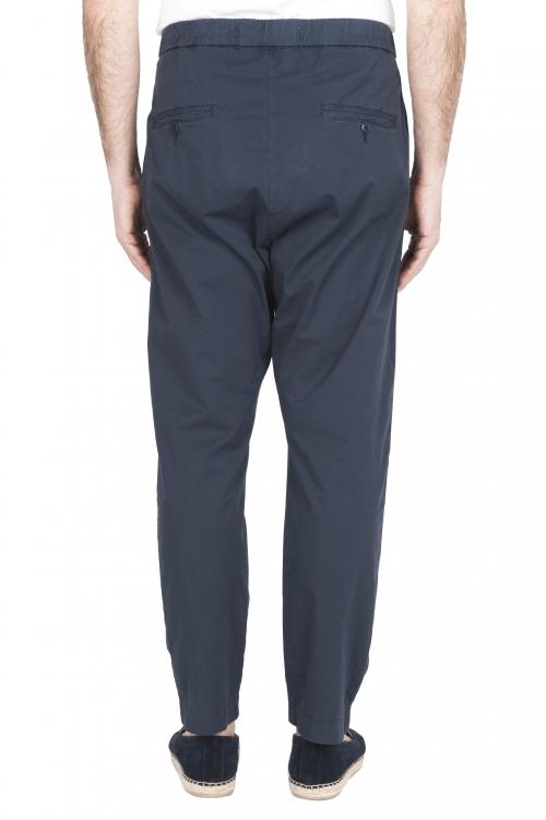 SBU 03264_2021SS Pantaloni jolly ultra leggeri in cotone elasticizzato blu 01