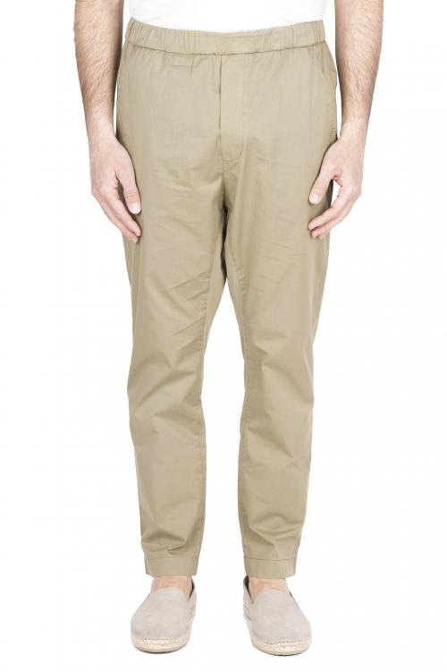 SBU 03265_2021SS Pantaloni jolly ultra leggeri in cotone elasticizzato verdi 01