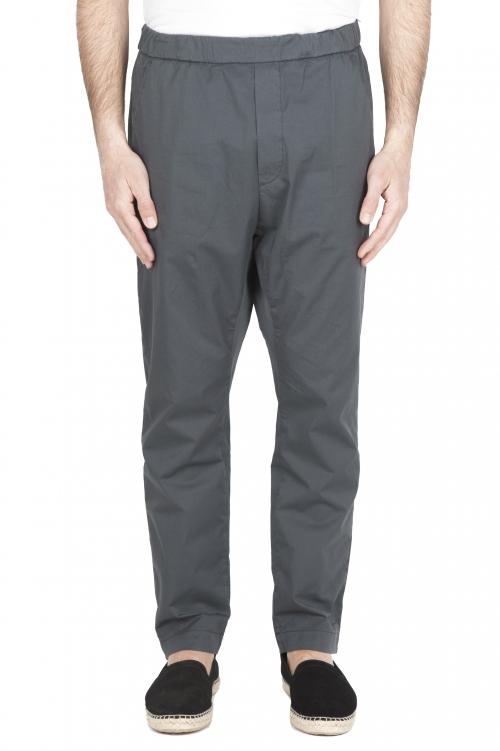 SBU 03266_2021SS Pantaloni jolly ultra leggeri in cotone elasticizzato grigi 01