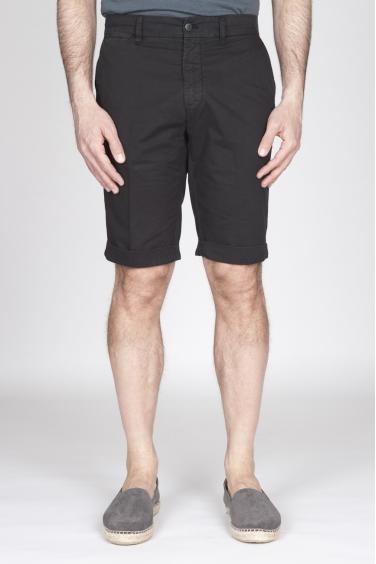 SBU - Strategic Business Unit - Bermuda Shorts In Cotone Elasticizzato Nero
