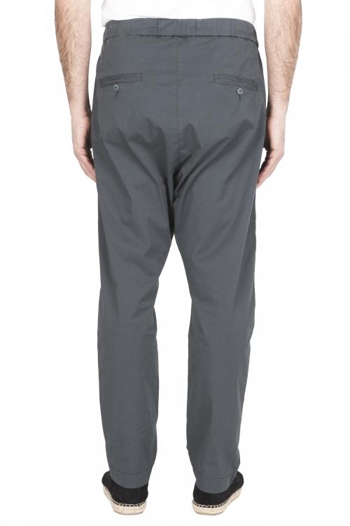 SBU 03266_2021SS Ultra-light jolly pants in grey stretch cotton 01