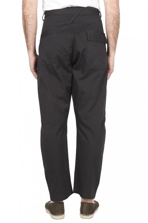 SBU 03271_2021SS Pantalón japonés de dos pinzas en algodón marrón 01