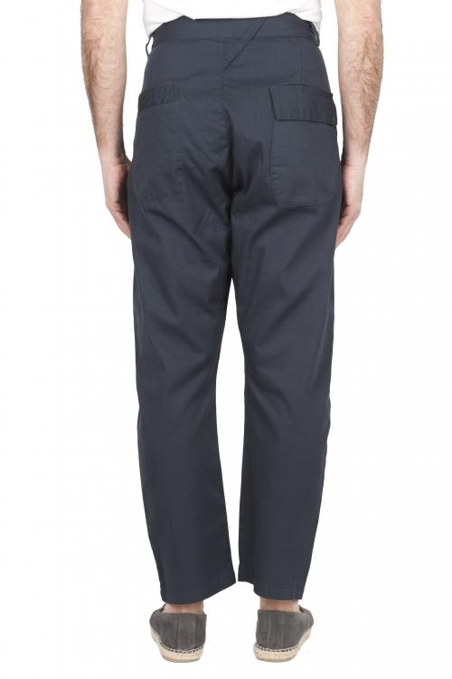 SBU 03269_2021SS Pantalón japonés de dos pinzas en algodón gris 01