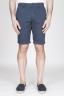 SBU - Strategic Business Unit - Classic Short Pants In Blue Navy Stretch Cotton