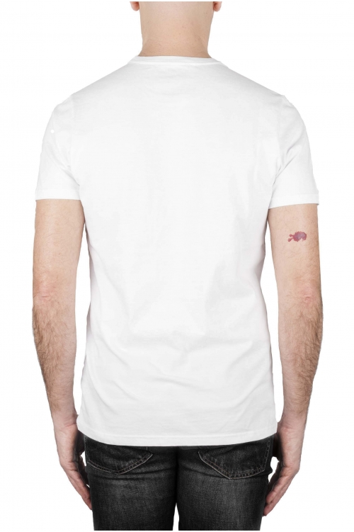 SBU 02845_2021SS 古典的な半袖綿ラウンドネックtシャツ灰色と白の印刷グラフィック 01