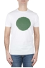 SBU 02847_2021SS Classic short sleeve cotton round neck t-shirt green and white printed graphic 01