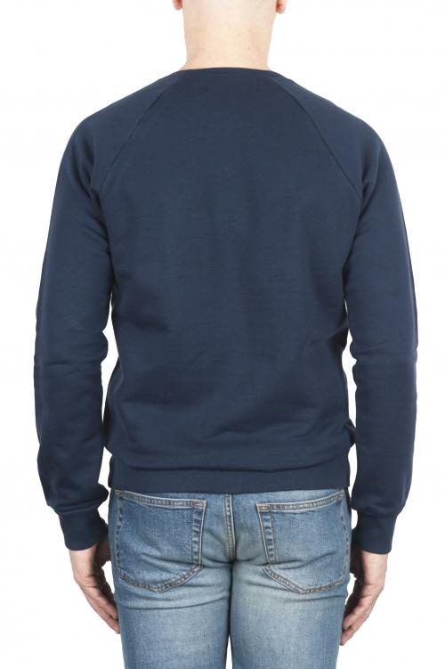 SBU 01796_2021SS ハンドプリントクルーネックブルースウェットシャツ 01