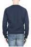 SBU 01796_2021SS Hand printed crewneck blue sweatshirt 04