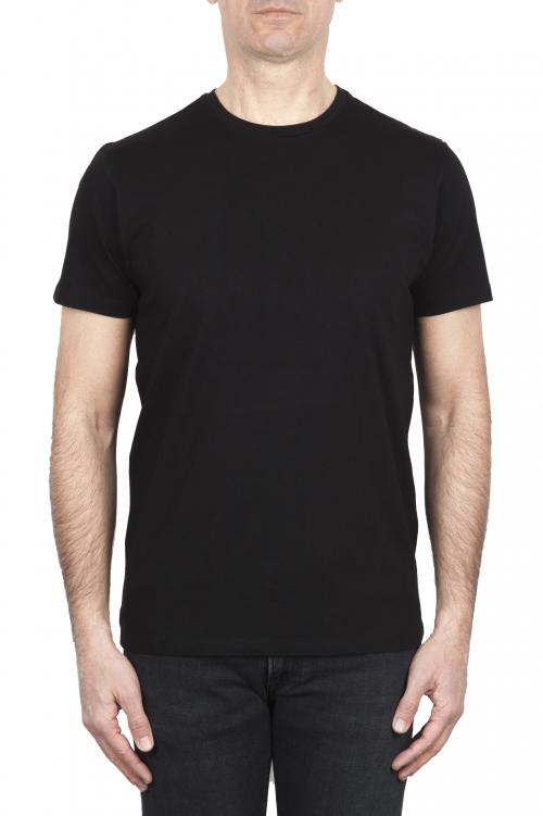 SBU 01786_2021SS Round neck black t-shirt 25 years anniversary print 01