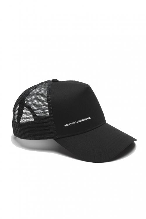 SBU 01791_2021SS Trucker cap classico di cotone nero 01