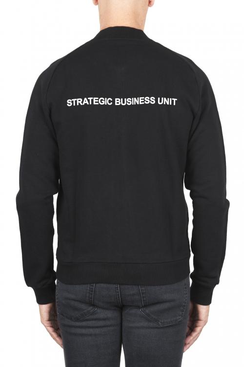 SBU 01463_2021SS Sudadera bomber jersey de algodón negra 01