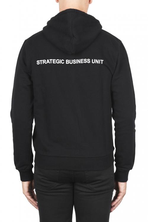 SBU 01465_2021SS Sudadera con capucha de jersey de algodón negra 01