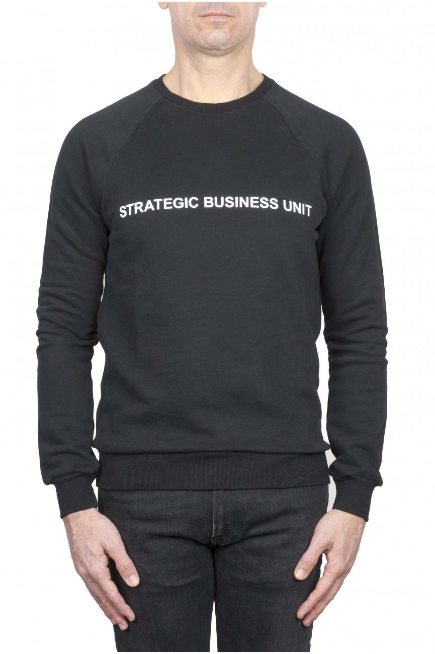 SBU 01467_2021SS Strategic Business Unit logo printed crewneck sweatshirt 01