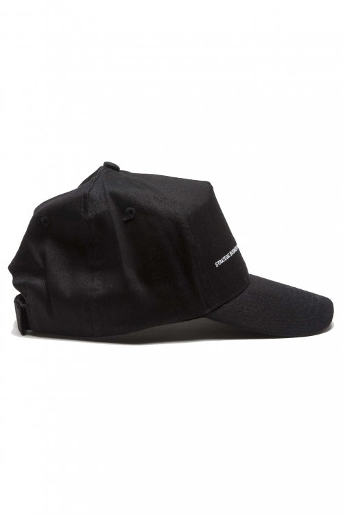 SBU 01188_2021SS Clásica gorra negra de beisbol con visera 01
