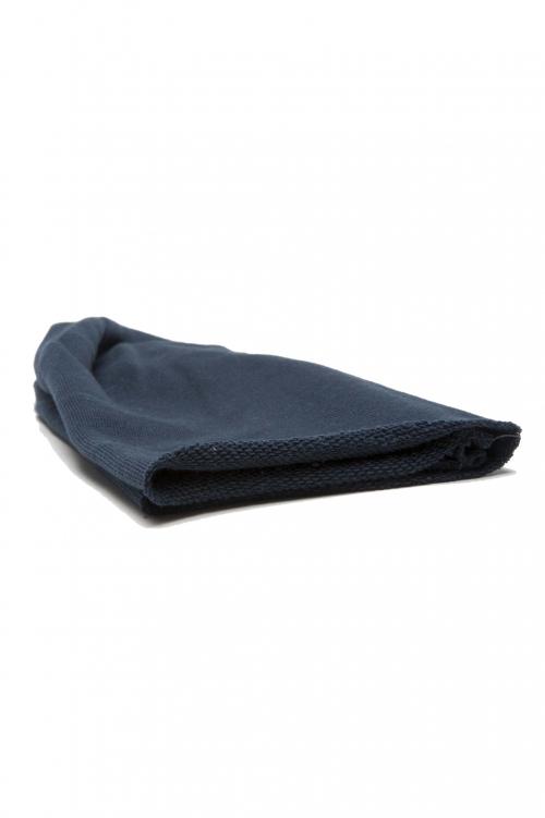 SBU 01190_2021SS Bonnet en laine classique de coupe en pointe bleu 01
