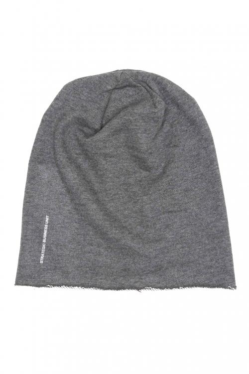 SBU 01191_2021SS Clásico gorro de lana con corte en punta gris 01