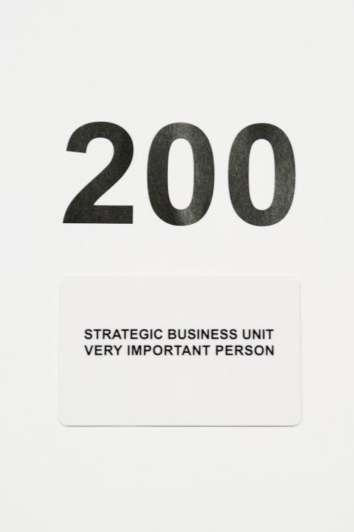 ギフトカードStrategic Business Unit 200