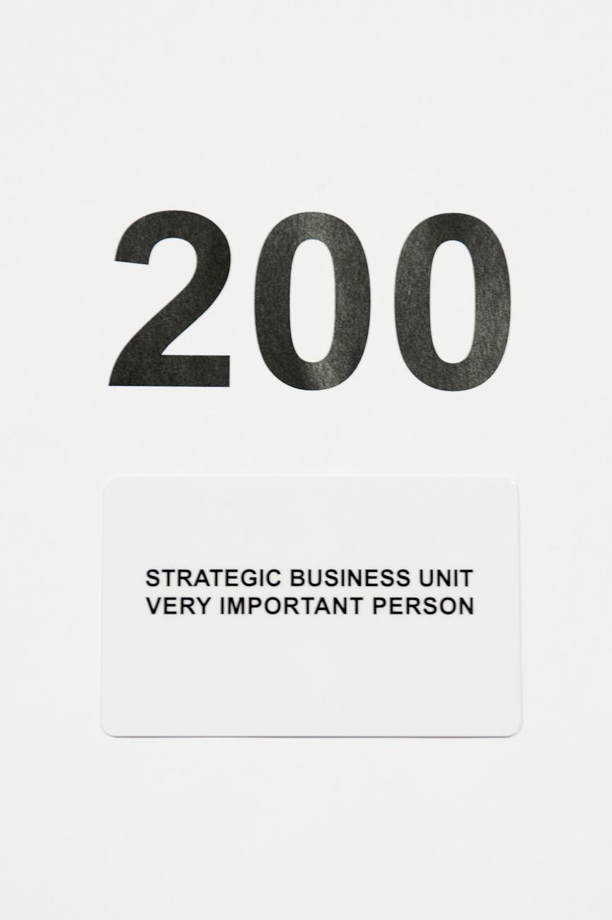 Carte cadeau Strategic Business Unit 200
