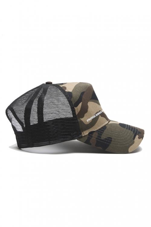 SBU 01806_2021SS Classic cotton trucker cap camouflage green 04