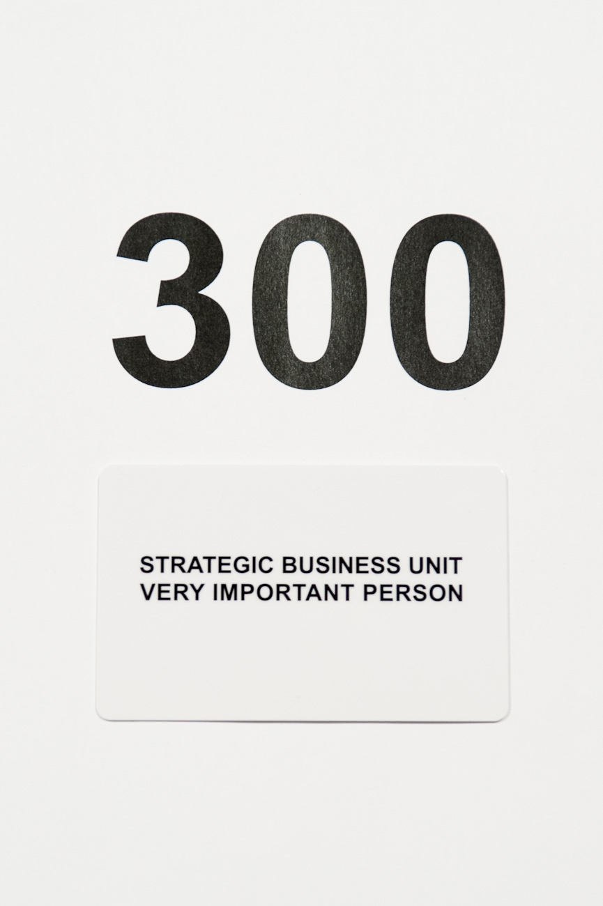 Tarjeta regalo Strategic Business Unit 300