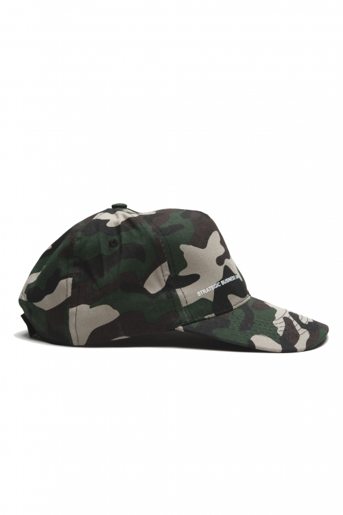 SBU 01809_2021SS Classic cotton baseball cap camouflage green 01