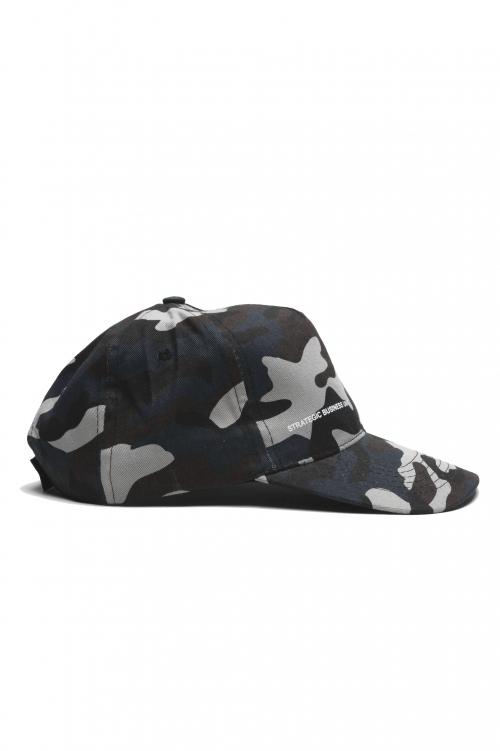 SBU 01810_2021SS クラシックコットン野球帽迷彩ブルー 01