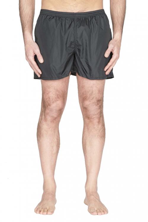SBU 01753_2021SS Tactical swimsuit trunks in black ultra-lightweight nylon 01