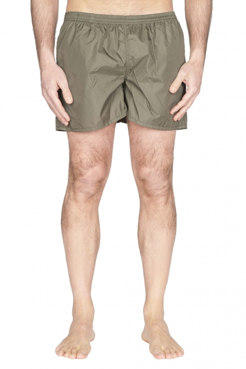 SBU 01757_2021SS Costume pantaloncino classico in nylon ultra leggero verde 01