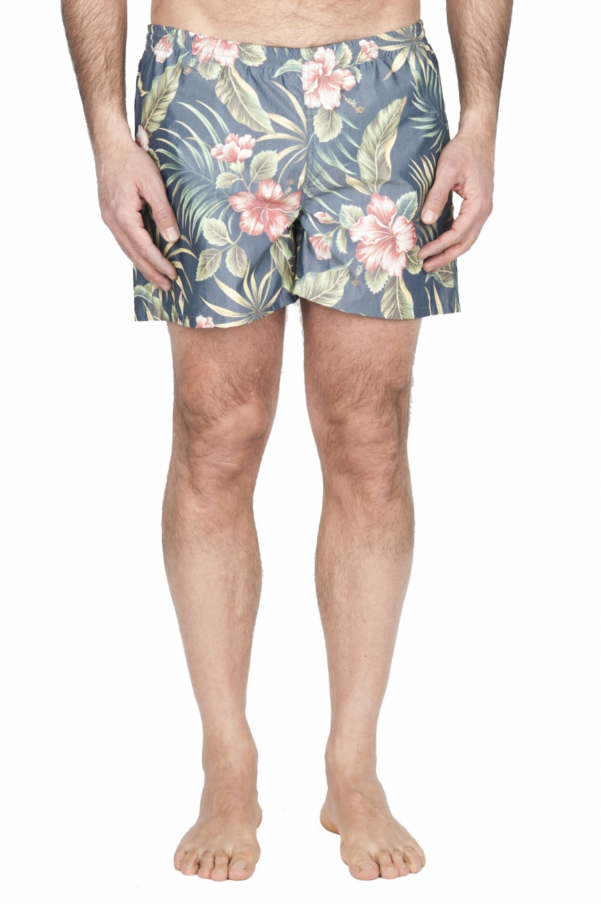 SBU 01759_2021SS Tactical swimsuit trunks in floral print ultra-lightweight nylon 01